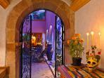 Entrance hallway during Dia de los Muertos