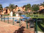 Children's pool is open all year with loungers.