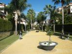 private gardens in complex