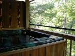 Hot tub for relaxing and soaking your cares away