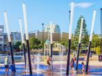 Fun water park for the kids at Kings Beach