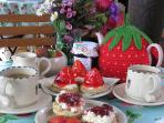 Afternoon tea at our farm shop