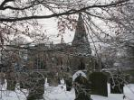St Peter's - Hope village church in winter