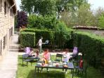 Un jardin agréable, privatif et clos
