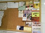 Notice board to share local information