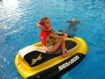 FREE POOL ACTIVITIES .. Kayaks,   water walkers and gliders.