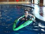 KAYAKS IN THE POOL .....   free activities for children,   great value !