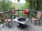 Relax on the deck with mountain views!
