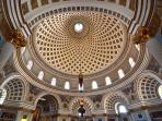 Mosta Dome.  The interior of the church in Mosta in Malta