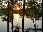 Enjoy sunsets, fishing or boating on the private dock