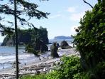 Ruby Beach is just one of the magnificent beaches on the Olympic Peninsula.