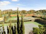 from over 35 tennis courts to choose from.....