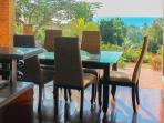 dining area with seaview
