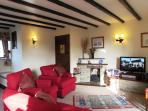 Barn Cottage sitting room with Lcd TV, Dab radio/cd player, DVD/tape player
