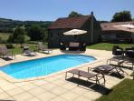 Heated Pool with relaxing sun-loungers, amazing views, ideal for cooling off on hot sunny days