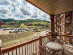 Wide open mountain views of the ski resort from your very own private balcony.