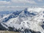 The Wasatch Mountain Range.