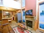 Bright, beautiful and recently renovated Three Kings Condominium at the base of Park City Mountain Resort. There is a...