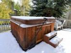 Private hot tub - accessible all year round.