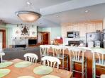 Open Concept Layout / Breakfast Bar w Seating for 4