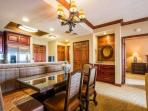 For a perfect evening in, a formal dining area with comfortable seating for seven (7) people, is situated just off the...