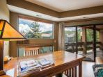 Desk, Large Windows, Private Deck w Mountain Views!