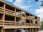 This is your parking spot and exact garage when you stay at this Lift Line Condominium in Park City, Utah!