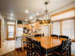 The layout of the main floor allows easy flow between the living, dining and kitchen