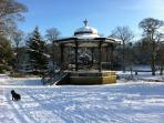 Beautiful Buxton in the winter - Don Redfern's Band Stand - Pavillion Gardens