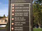 The house is right in the center of the Historic Sonoma Plaza--so much to do & see, all on foot!