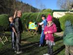 winter. or summer activities for the children- soft archery