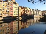 Ever changing colours in the old town of Girona just 2 minutes from the apartment