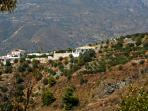 The perfect retreat. Spectacular views of mountain and sea. View of house from opposite mountain