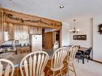 This quaint kitchen comes fully equipped with all the essential cooking appliances