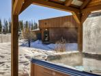 Soak your cares away in the complex hot tub after a thrilling day of outdoor adventures
