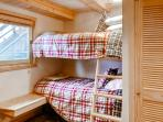Bunk beds provide additional sleeping options