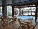 2 Outdoor open air Hot Pool Available for Guest. Open at 8:30am-10:00pm