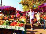 Central green market, 8 min walking from the room