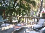 equipped outside area with table for your  relaxing moments!