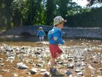 wading in Dunster