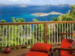 Breathtaking view from private deck, listen to the surf below!