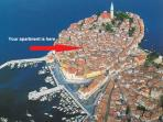 Cosy apartment in Rovinj centre - 100 m from the main square and the Adriatic sea