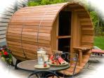New addition at St Michaels - 8 person Barrel Sauna