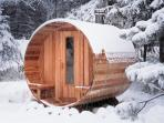 Why not try our unique 8 person barrel sauna at St Michaels
