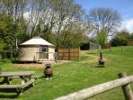 A distance glamping neighbour, Linnet, you may book together with Swift for your friends.