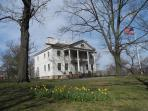 Opposite our house, the Morris-Jumel Mansion for peaceful walks