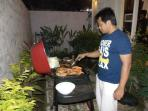 Cook a BBQ in the villa.