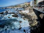 95 Kms away. Puerto de la Cruz Marin Drive from Plaza del Charco.