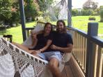 Relax in the hammock in back garden