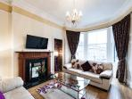 Living Room with views of Firth of Forth and Fife